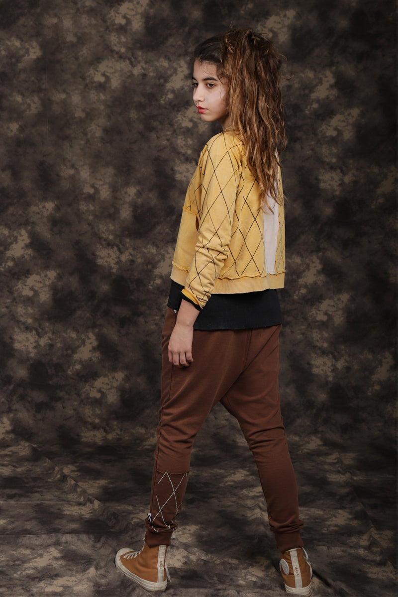 Kids & Teens unisex brown baggy pants