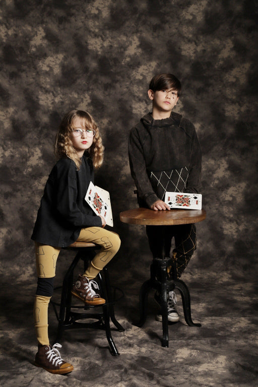 Kids unisex camel tights