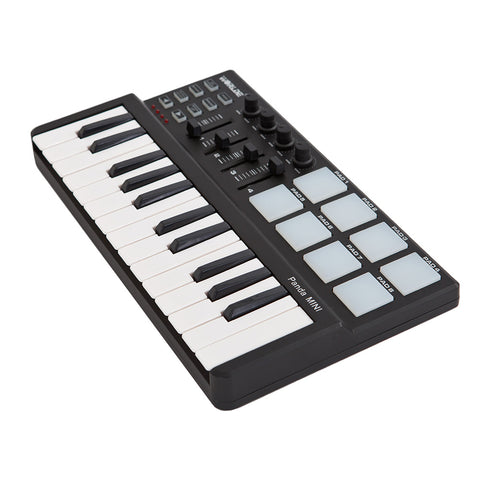 Mini 25-Key Keyboard and Drum Pad USB MIDI Controller