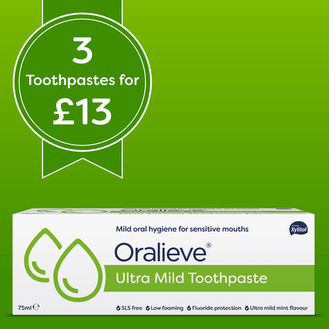Oralieve Ultra Mild Toothpaste <b>3 pack DEAL</b>