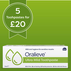 Oralieve Ultra Mild Toothpaste <b>5 pack DEAL</b>