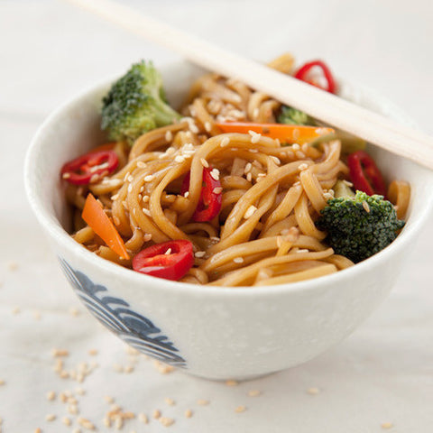 Sesame Noodles with Mixed Veg