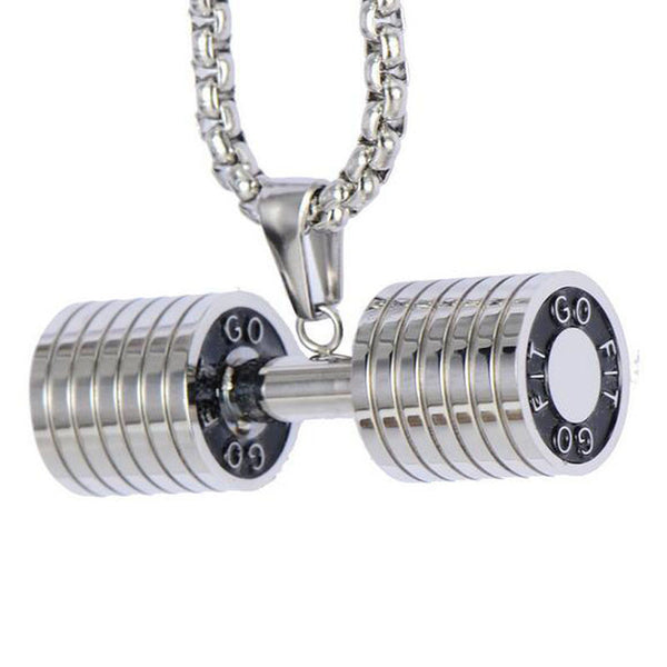 Barbell Stainless Steel Jewellery Necklace - Buyyourselfagift