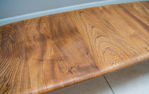 1960s Ercol Windsor Solid Elm And Beech 2 Tier Coffee Table