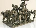 A Superb Antique African Ashanti depicting procession, with sixteen figures and king.