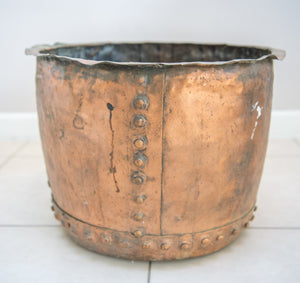 Antique Riveted Copper Cauldron Early 19th Century.English.
