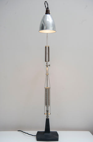 A Rare short production 4 Spring Model 1208 Anglepoise Desk Lamp Manufactured By Herbert Terry & Sons, Redditch, England.1935