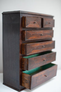 miniature mahogany Apprentice chest of drawers, dating from the late 19th Century
