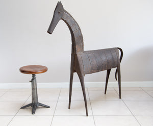 An Early Hand Riveted Steel Horse