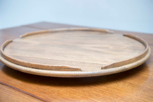 Rare 1960's Ercol Lazy Susan revolving table centre tray made of English Elm.