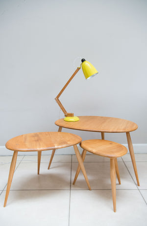 Ercol No. 354 Pebble Nest Of Tables. English 1960'S