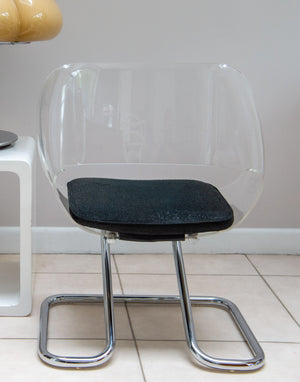 Guzzini Childs Size Armchair In Metal And Acrylic By Harvey Guzzini From 1968.