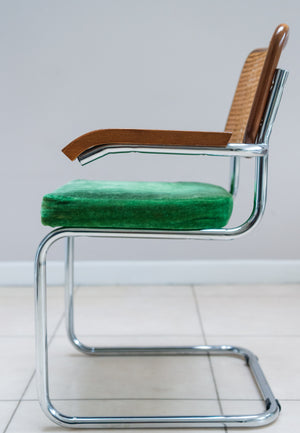 Set Of Six Marcel Breuer Style Cesca Arm Chairs.