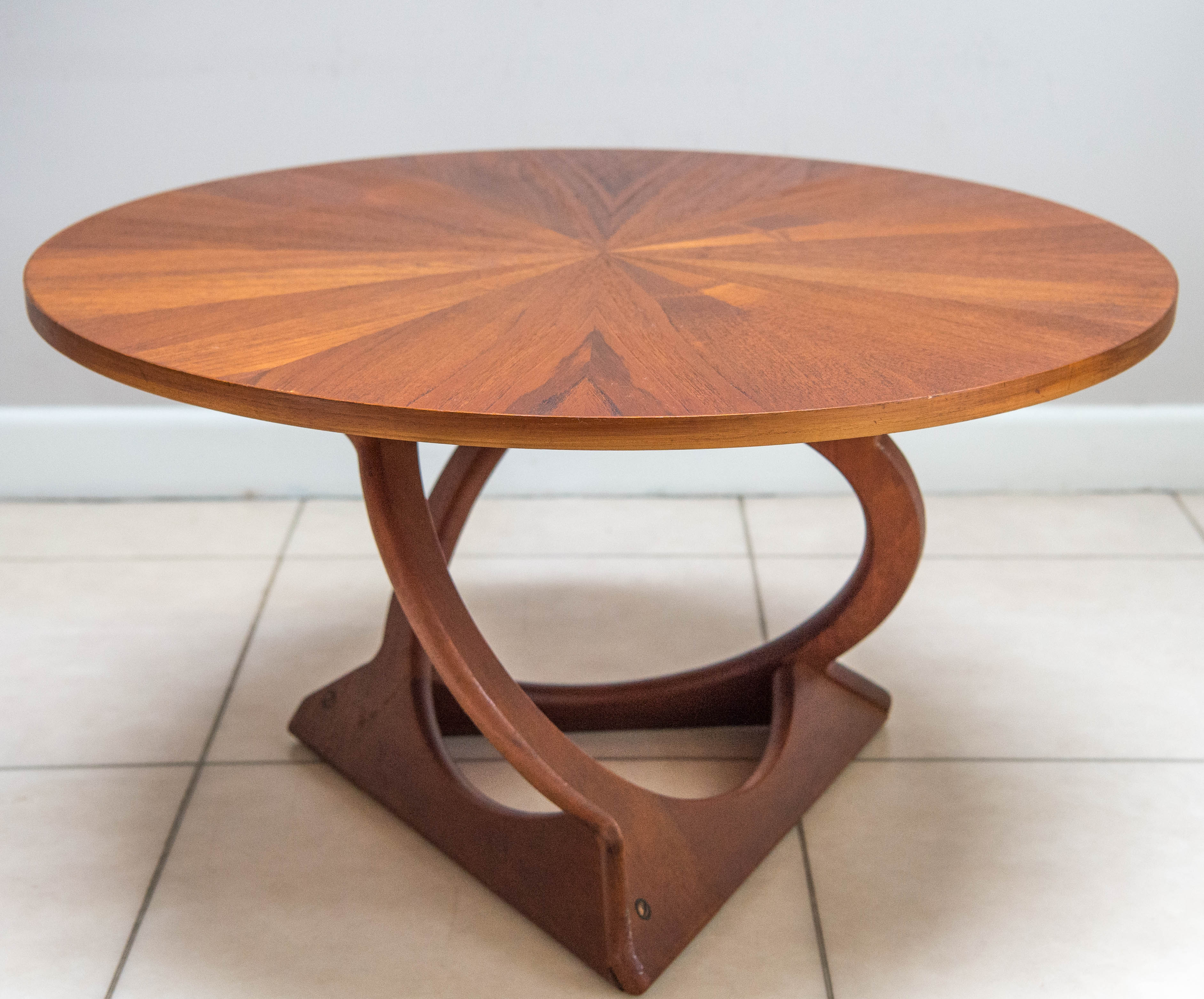 Vintage Sunburst Danish Teak Coffee Table By Soren Georg Jensen For Kubus