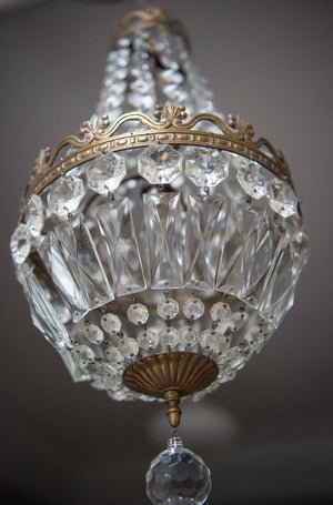 Vintage Empire Crystal Chandelier C1930