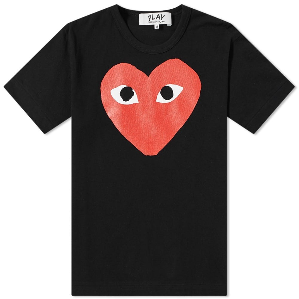 Comme des Garcons PLAY BIG HEART LOGO T-Shirt Youth T-Shirt - WHAT A PETIT