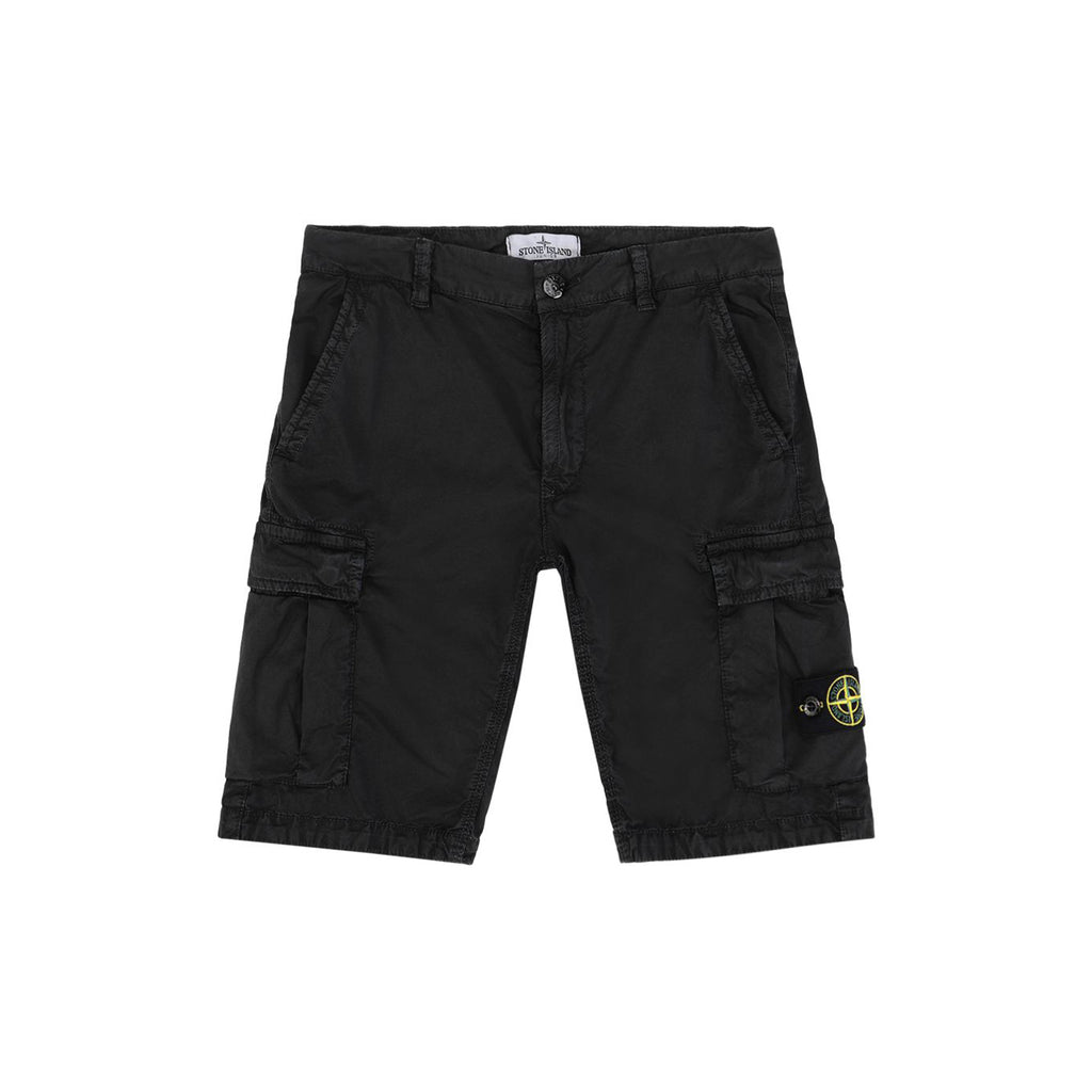 Stone Island Junior OLD TREATMENT CARGO SHORT KIDS Shorts - WHAT A PETIT