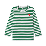 Comme des Garcons PLAY SMALL HEART LONGSLEEVE KIDS Longsleeve - WHAT A PETIT