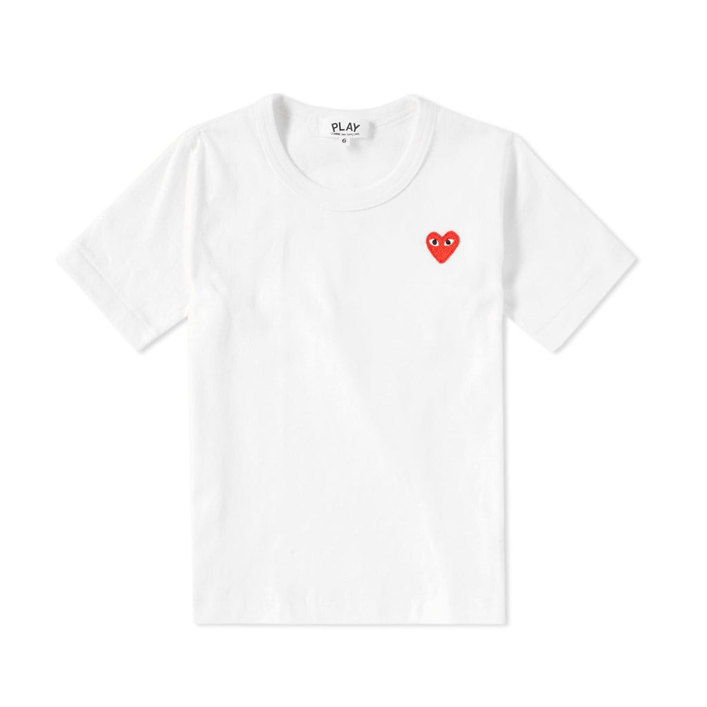 Comme des Garcons PLAY PLAY KNIT SMALL HEART T-Shirt KIDS T-Shirt - WHAT A PETIT
