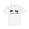 Comme des Garcons PLAY PLAY KNIT SCRIPT LOGO T-Shirt KIDS T-Shirt - WHAT A PETIT