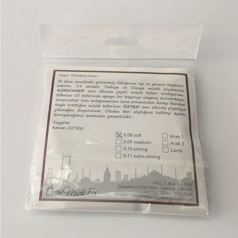 Professional Strings For Turkish Oud OSO-304 - 0.08 - Ouds
