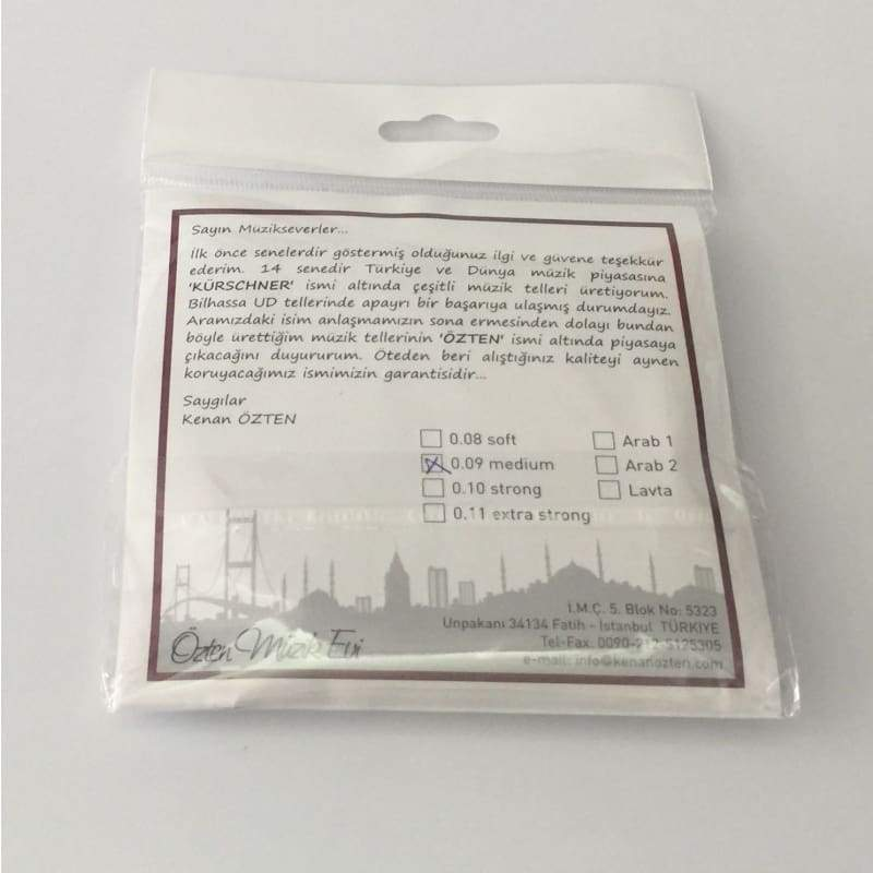 Professional Strings For Turkish Oud OSO-304 - 0.09 - Ouds