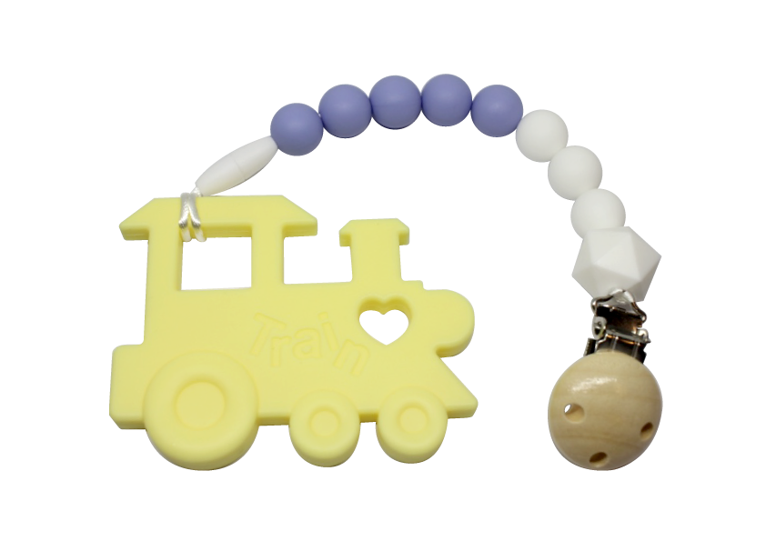 Choo-choo Clipper - Yellow - teethers