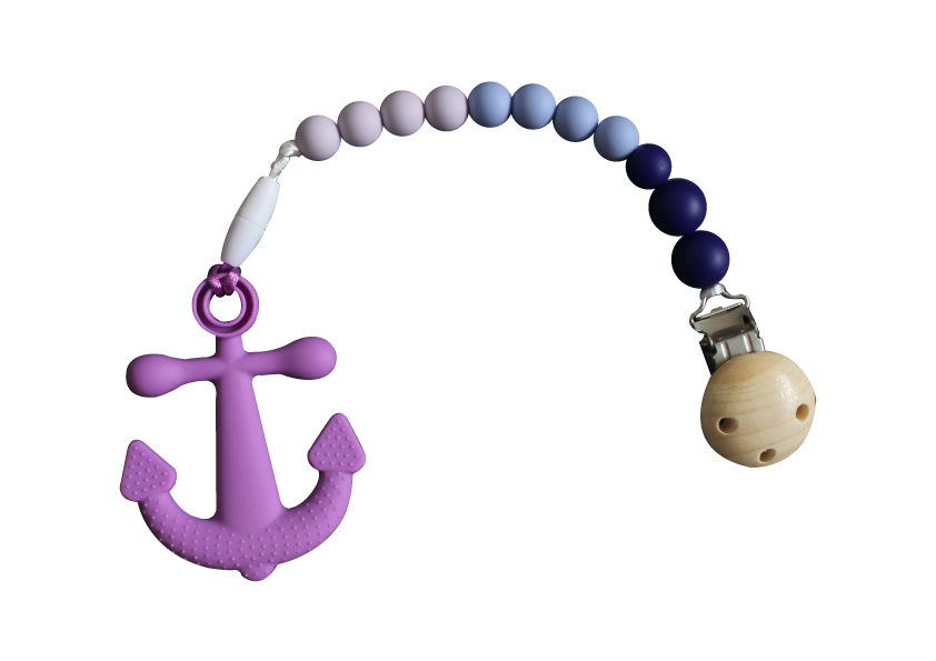 Anchor Clipper - Purple - teethers