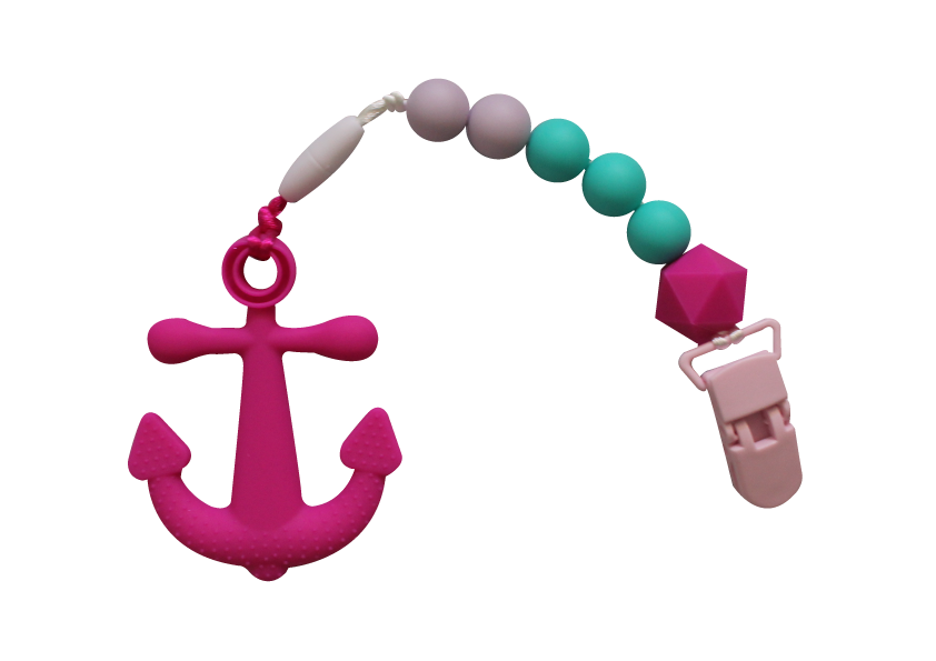 Anchor Clipper - Hot Pink - teethers