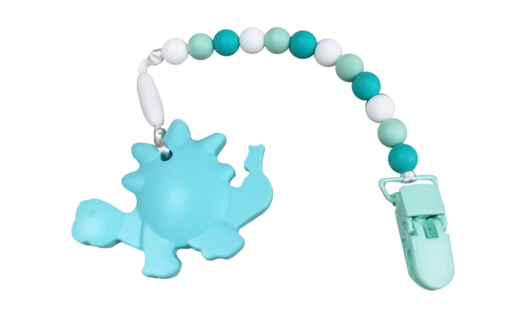Dino Clipper - Turquoise - teethers