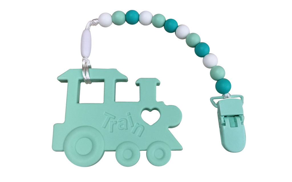 Choo-choo Clipper - Mint - teethers