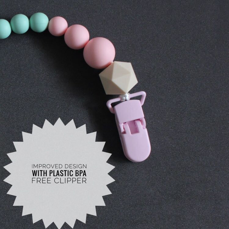 Blithe Marble Pacifier Clipper - teethers