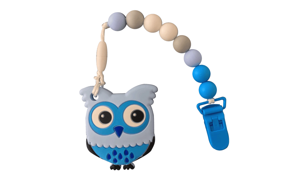 Owl Clipper - Blue - teethers