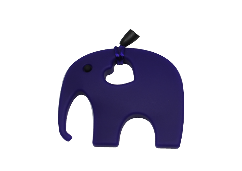 Elephant Clipper - Dark blue - teethers