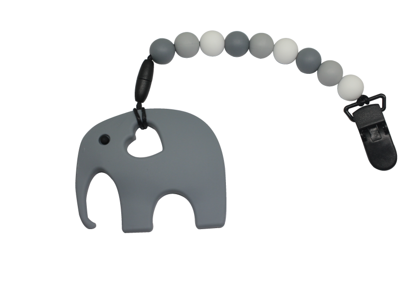 Elephant Clipper - Grey - teethers