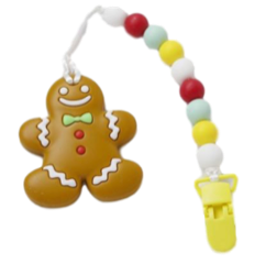 Gingerbread Man Clipper - teethers