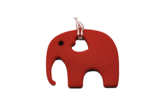 Elephant - Red - teethers