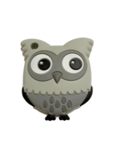 Owl Teether - Grey - teethers