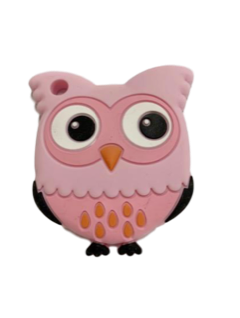 Owl Teether - Pink - teethers