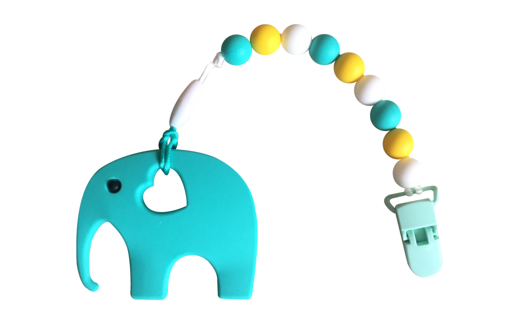 Elephant Clipper - Turquoise - teethers