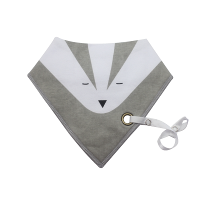 Grey Foxy Bib - teethers