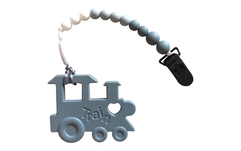 Choo-choo Clipper - Grey - teethers