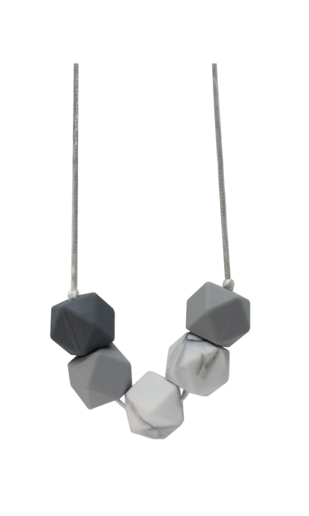 Hearty Marble Necklace - teethers