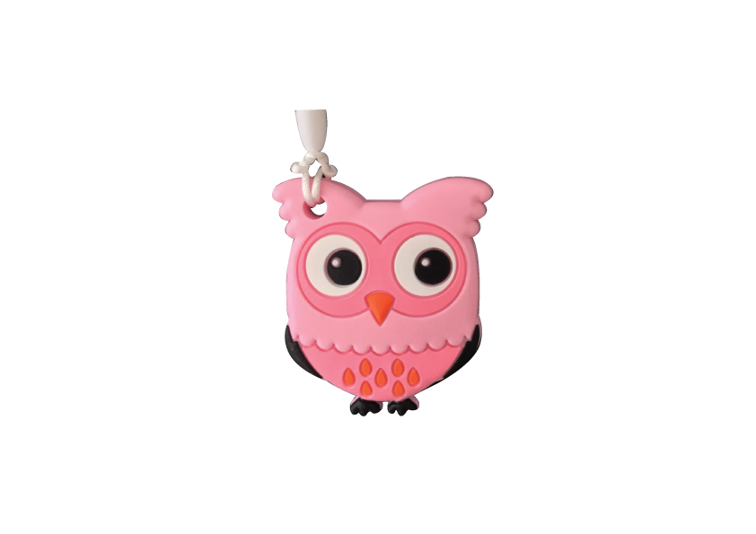 Owl Clipper - Pink - teethers