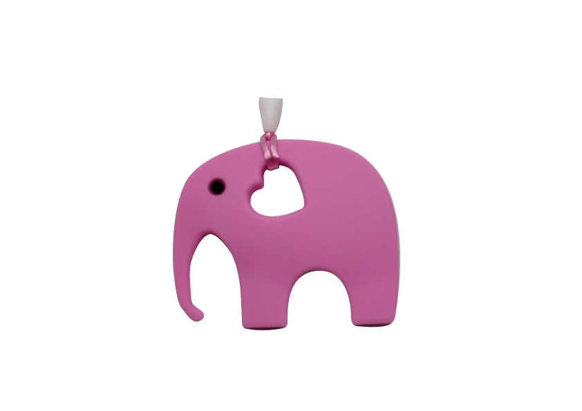 Elephant Clipper - Hot Pink - teethers