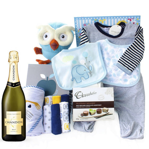 Baby boy gifts delivery personalised baby gift australia tickle bub leo and hoot gifts set baby gift basket tickle bub negle Images