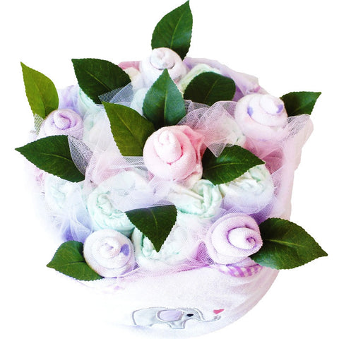Nappy cakes melbourne gifts australia delivery tickle bub nappy cake 4 baby gift basket tickle bub negle Gallery