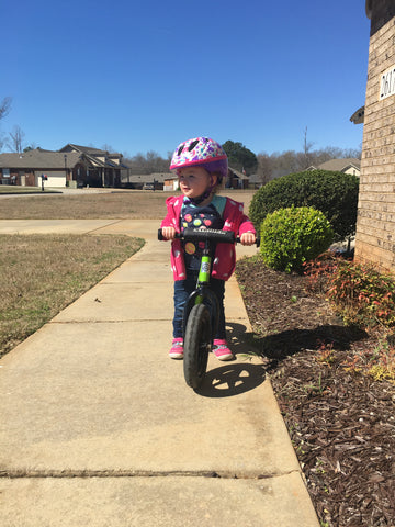 Choose Joy - Watching my little one on her balance bike. Sincere Thoughts - Sincere Elephant