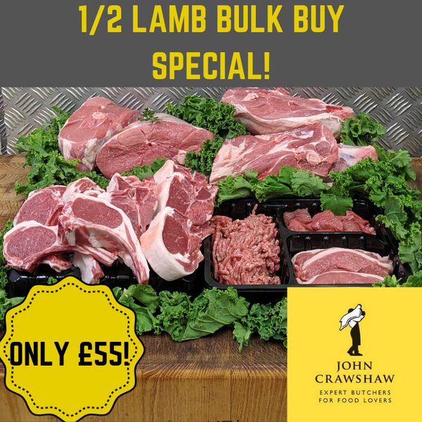 1/2 Locally Farmed Lamb Only £55!