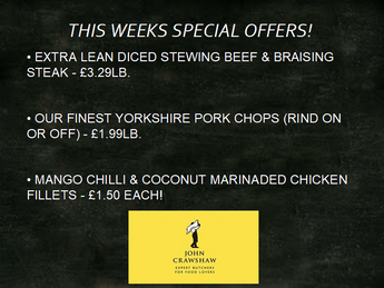 🔥This Weeks Specials🔥 30/08 - 05/09
